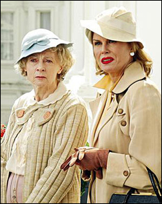 Geraldine mcewan and joanna lumley in the body in the library