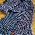 Ribbed Scarf with a Crocheted Edging