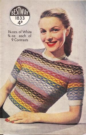 Bestway fair isle jumper 1950s