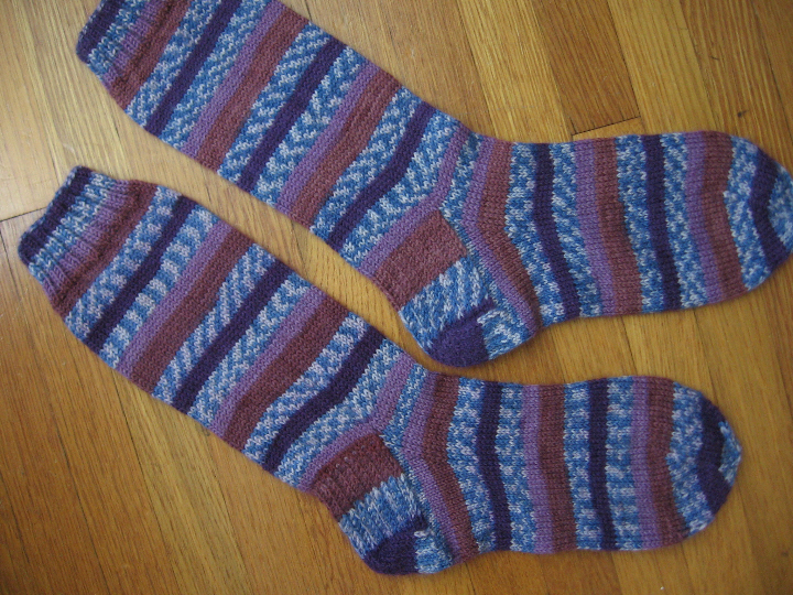 Loops and threads luxury sock crocuses 1