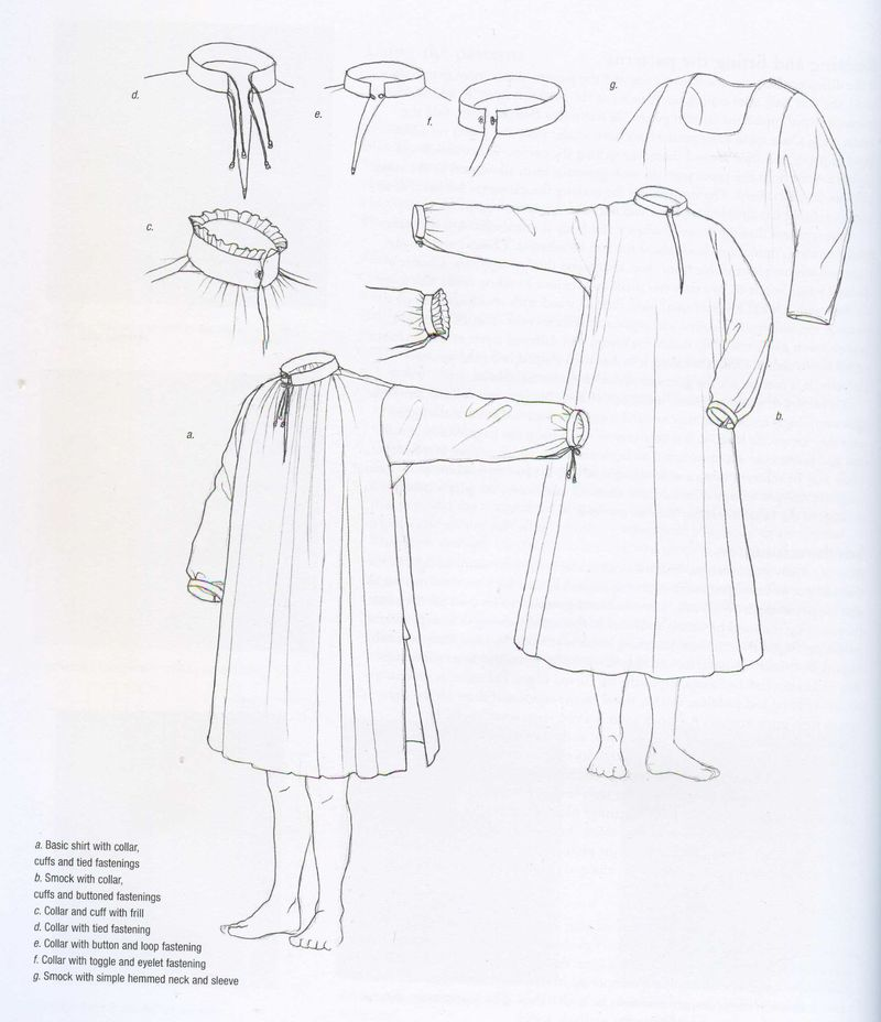 Tudor tailor - shirts and smocks