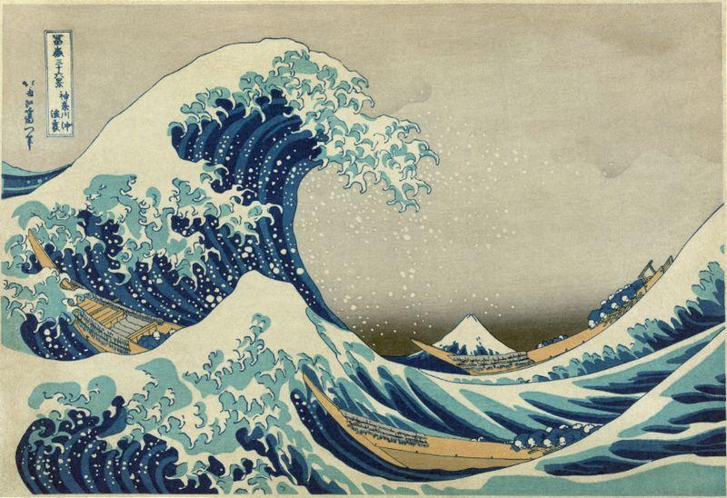 Hokusai - great wave off kanagawa