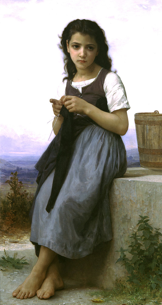 William-Adolphe_Bouguereau_(1825-1905)_-_Little_Knitter_(1884)