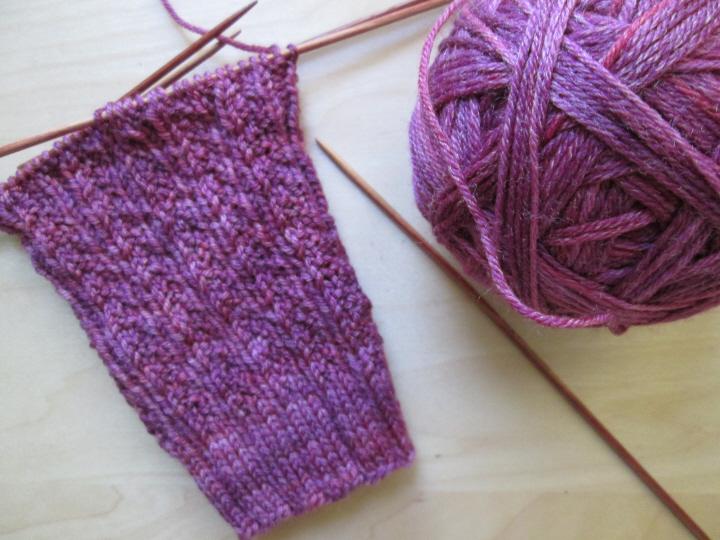 Sock before