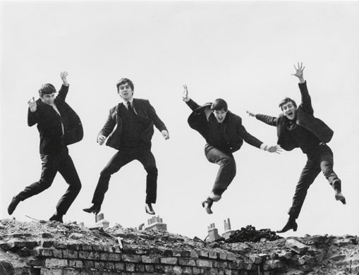 Beatles jumping fiona adams 1963
