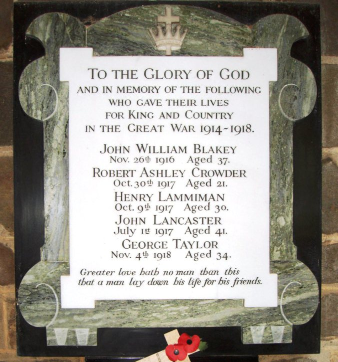 Thimbleby great war memorial