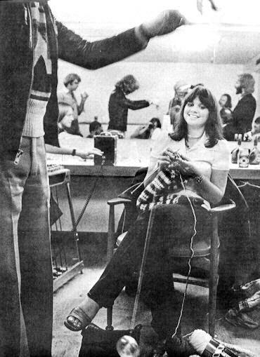 Linda ronstadt knitting