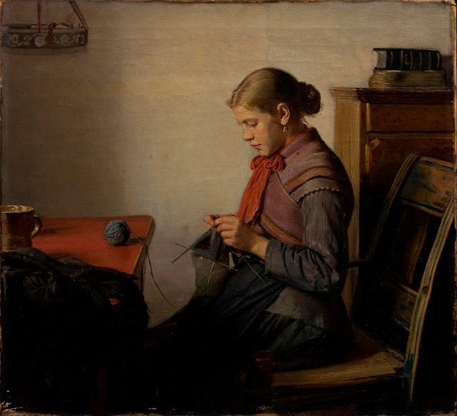 Michael_Ancher_-_Skagen_girl,_Maren_Sofie,_knitting._-_Google_Art_Project