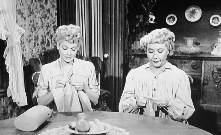 Knitting lucy and ethel