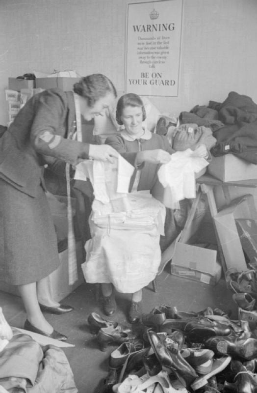 British_War_Relief_Society_of_America_Sends_Clothing_To_Britain,_1941_D2087