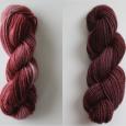 Grape Overdye on Black Cherry and Grape Kool-Aid on Ecru Wool