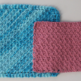 Hurdle Stitch dishcloth and Suzette stitch dishcloth