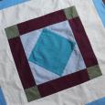 Diamond in a Square mini quilt