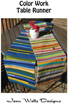 Wells jean color work table runners