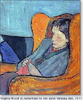 Virginai Woolf Knitting by Vanessa Bell