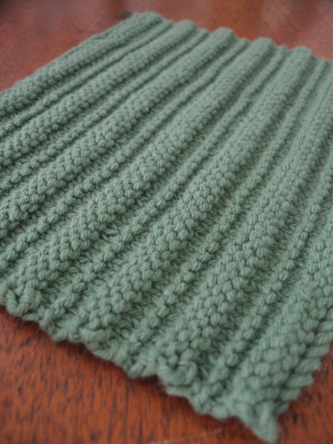 Quaker Ridging Dishcloth