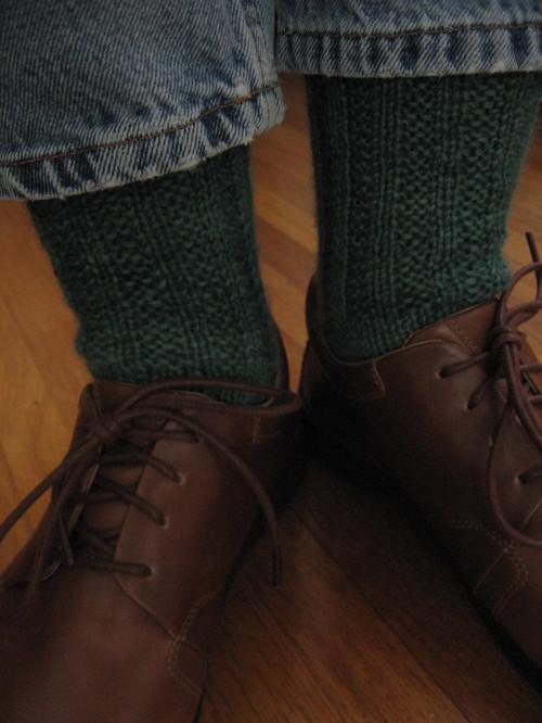 Garter Rib Knee Socks