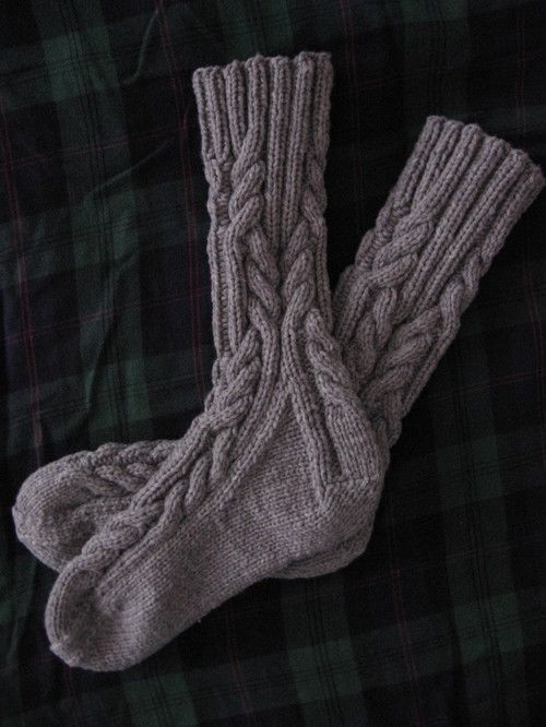 Log Cabin Socks