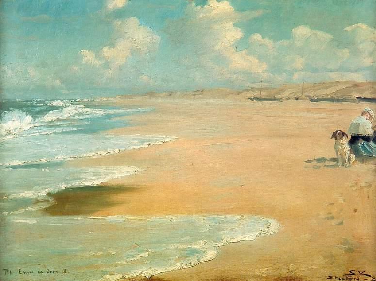 Kroyer_stenbjerg_med_marie_malende_1889